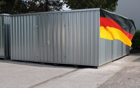 Lagerhalle LH 30 5x6m nicht isoliert. Lagercontainer Kombination günstig direkt ab Hersteller. Made in Germany.