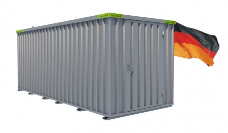 Materialcontainer / Lagercontainer 5,10m x 2,10m x 2,10m Tür stirnseitig