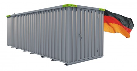 Materialcontainer / Lagercontainer 6,10m x 2,10m x 2,10m Tür stirnseitig
