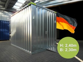 Lagercontainer 10 Fuß - L:3,10mB:2,30mH:2,40m