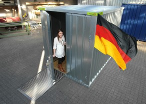 Lagercontainer isoliert 2x2m